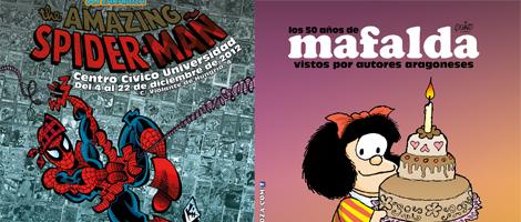 Mafalda y Spiderman en el Centro Comercial Gran Casa