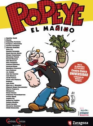 Salón Cómic Zaragoza 2019 Album de fotos Exposición Popeye